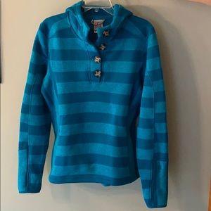 Blue Striped Avalanche Fleece Sweatshirt